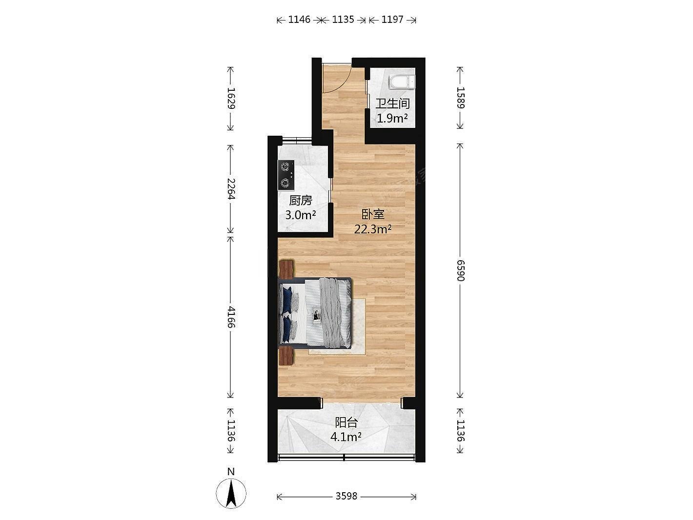 太平桥东里 新上一居室 交通方便 看房提前联系